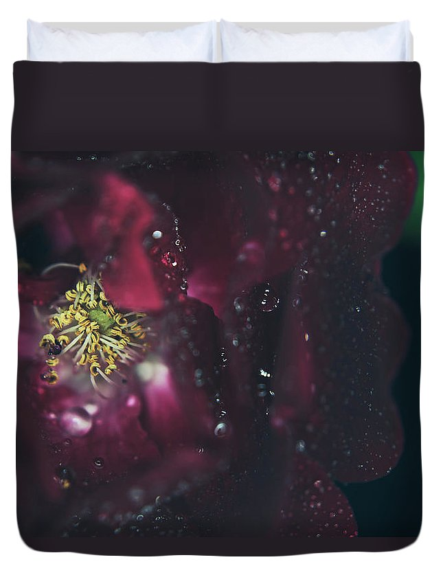 Red Roses Duvet Cover featuring the photograph I Can Feel Your Heart Beating by Laurie Search