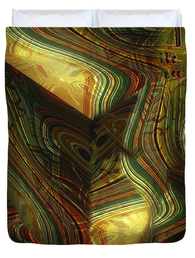 Abstract Duvet Cover featuring the painting I Have Set Aside A Block Of Time by RC DeWinter