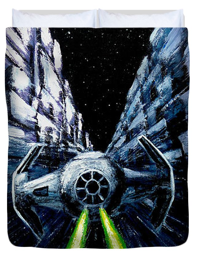 Star Wars Duvet Cover featuring the painting I Have You Now by Marlon Huynh