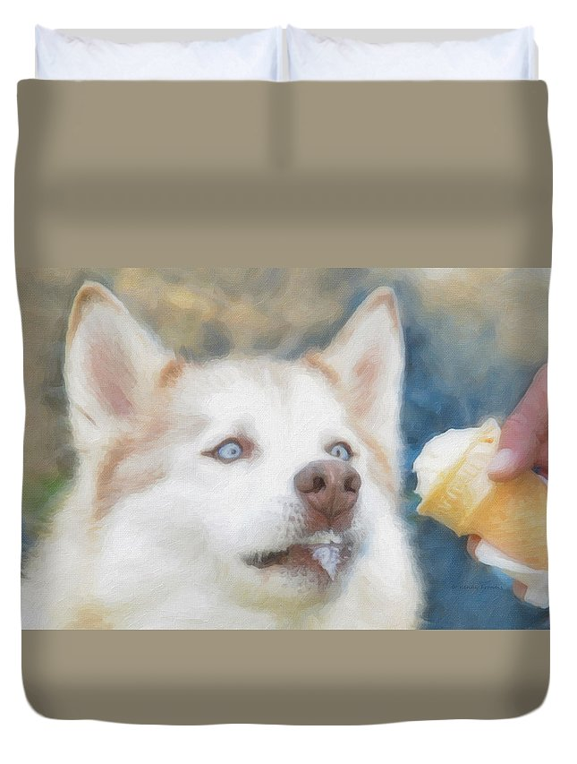 Kenny Francis Duvet Cover featuring the photograph I Just Loooove Ice Cream by Kenny Francis