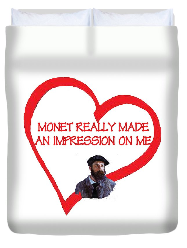 Monet Duvet Cover featuring the digital art I Love Monet by Philip Ralley