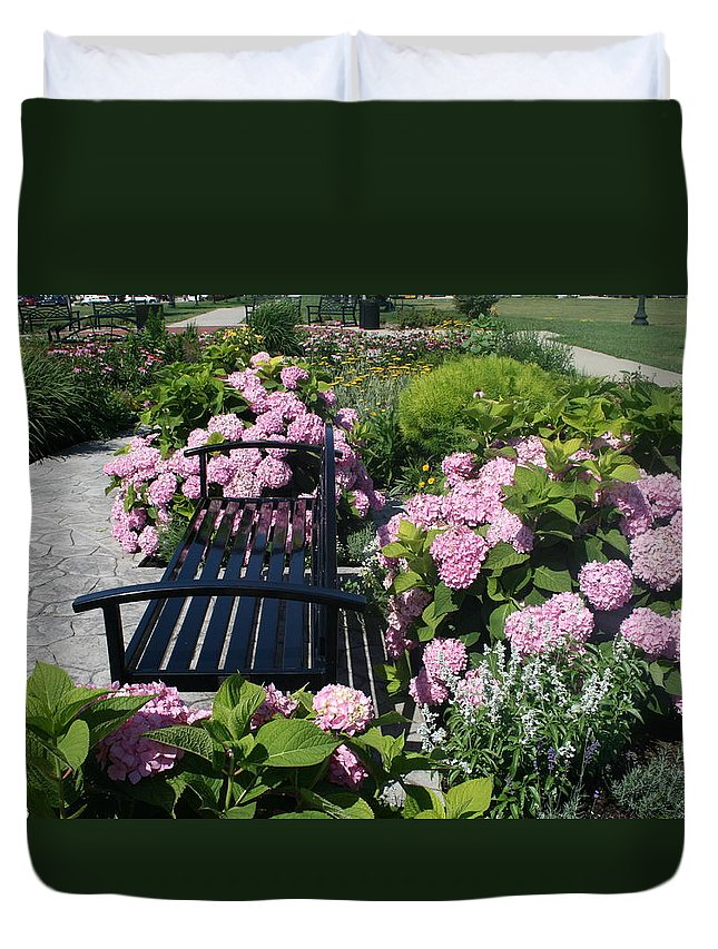 Garden Duvet Cover featuring the photograph I Never Promised You A Rose Garden by Kay Novy
