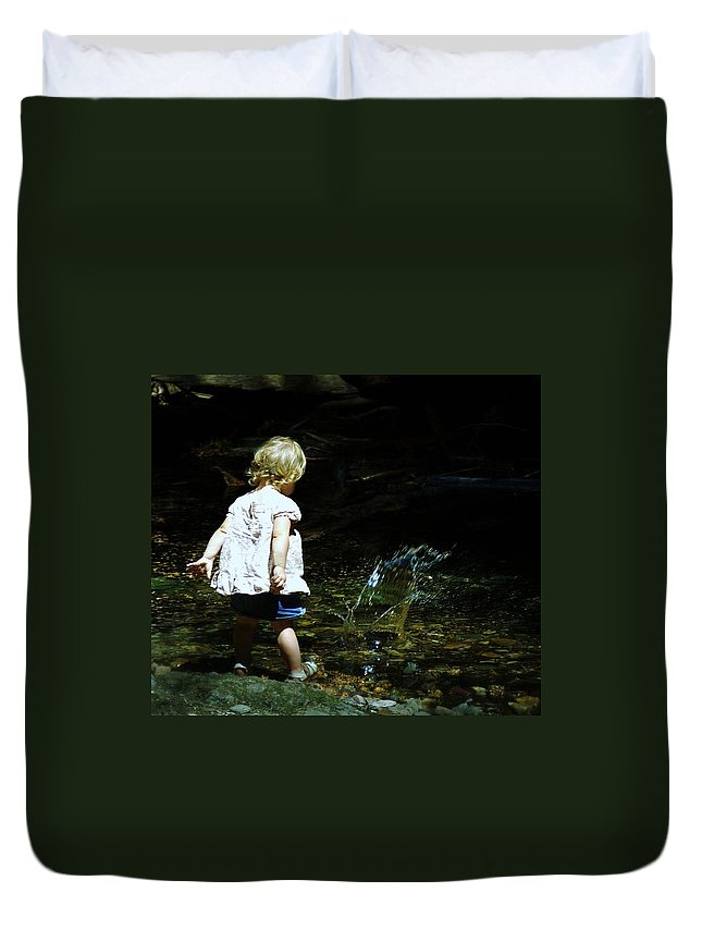 People. Kids Duvet Cover featuring the photograph I Remember When by Jeff Swan