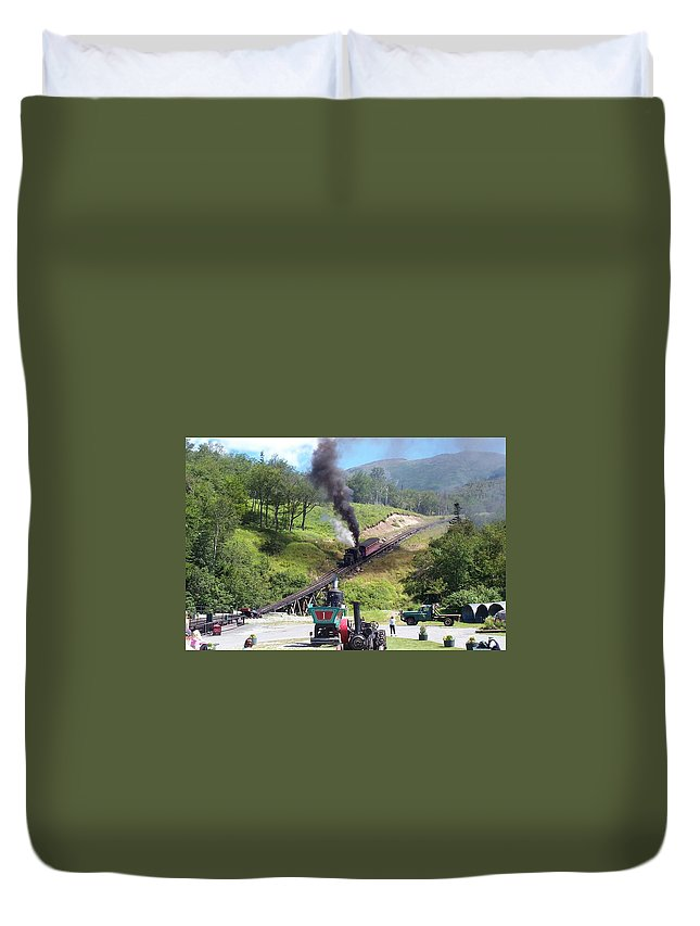 Cog Railroad Duvet Cover featuring the photograph I Think I Can by Barbara McDevitt