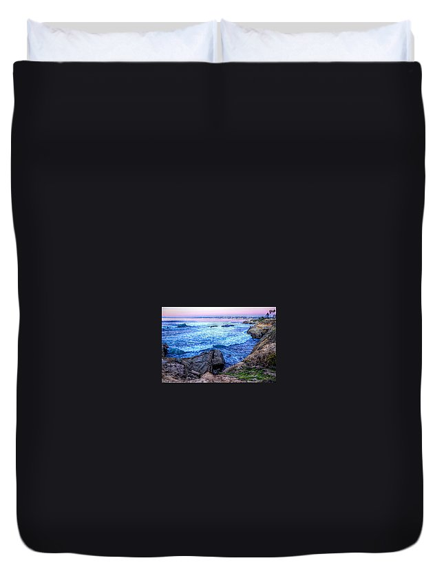 California Duvet Cover featuring the photograph I Will Put You In A Cleft In The Rock by Sharon Tate Soberon