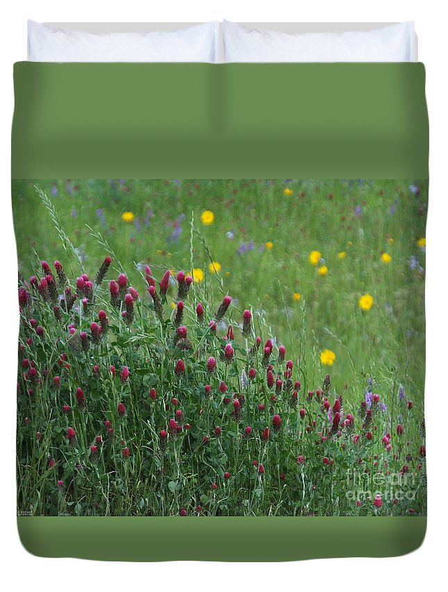 Spring Duvet Cover featuring the photograph I55 Eye Candy by Lizi Beard-Ward