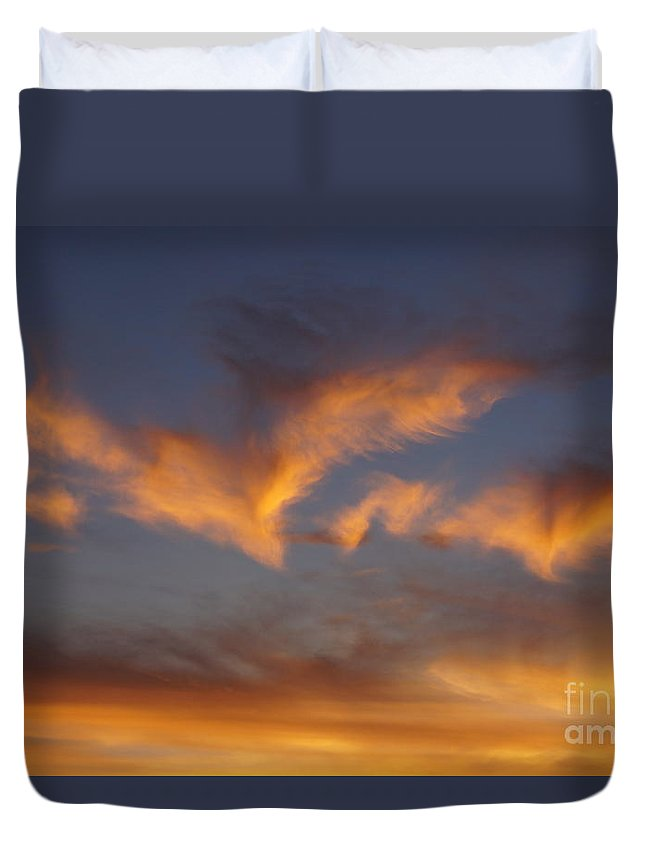 Clouds Duvet Cover featuring the photograph Icarus's Wings by Zori Minkova