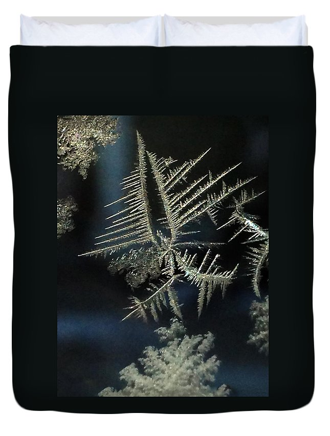 Ice Duvet Cover featuring the photograph Ice Crystals by Shane Bechler