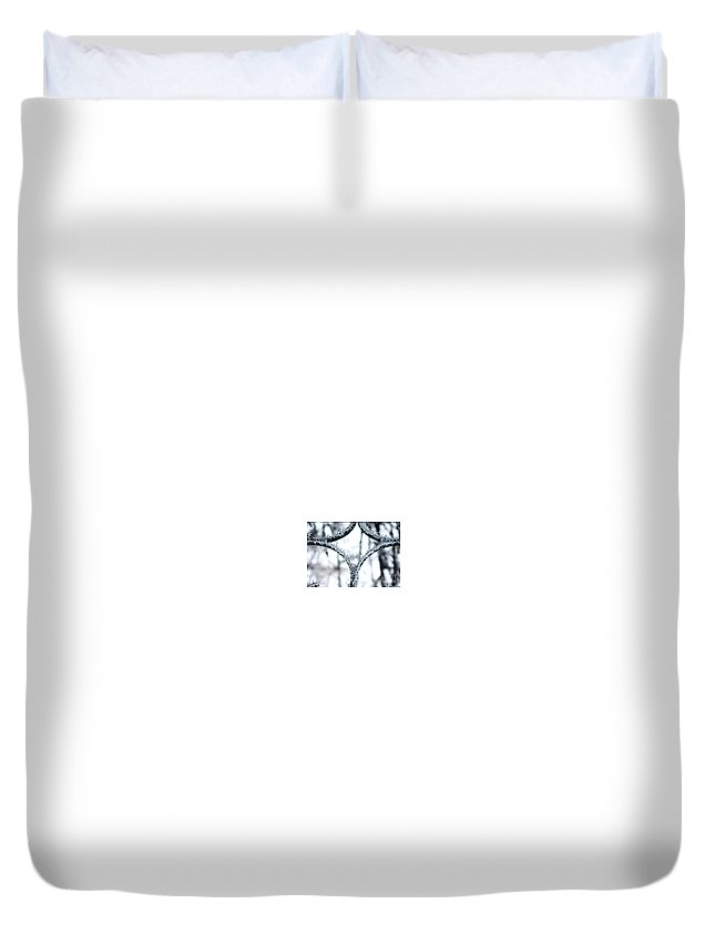 Ice Crystals Kissing Duvet Cover featuring the photograph Ice First Kiss by Christine Dekkers