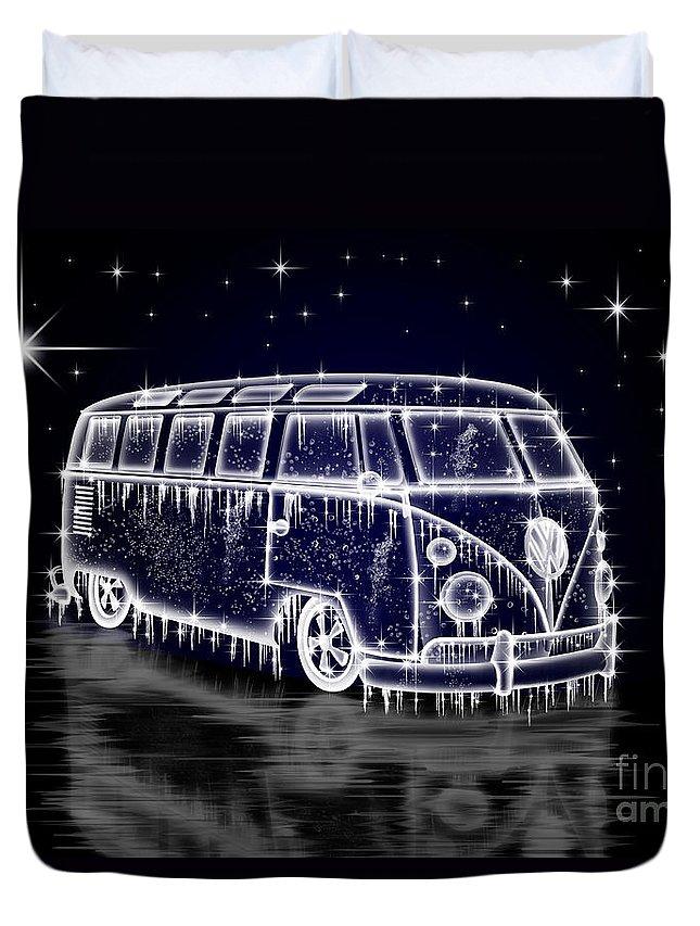 Volkswagen Duvet Cover featuring the digital art Ice Splitty by Linton Hart