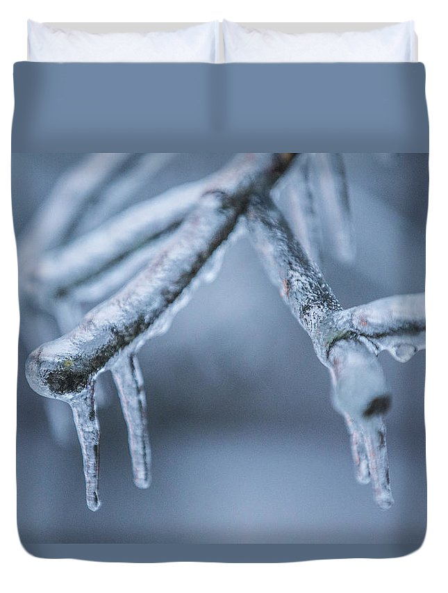 Ice Duvet Cover featuring the photograph Ice Tree by John McGraw