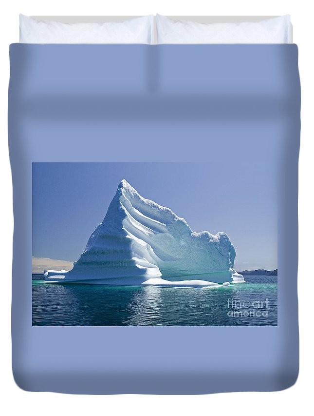 Iceberg Duvet Cover featuring the photograph Iceberg by Liz Leyden
