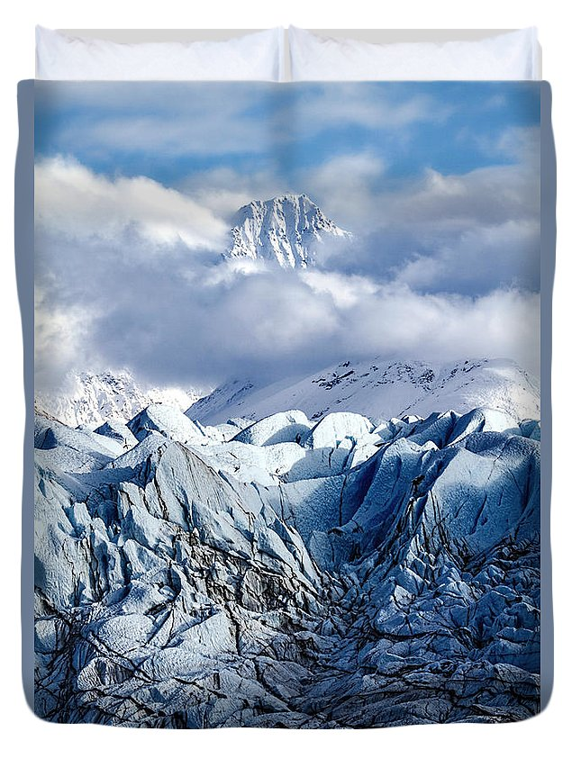 Icy Blue Duvet Cover featuring the photograph Icy Blue by Wes and Dotty Weber