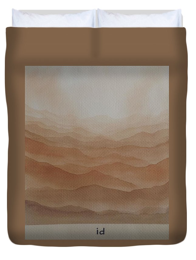 Watercolor Duvet Cover featuring the painting id by Richard Faulkner