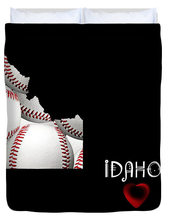Andee Design Duvet Cover featuring the digital art Idaho Loves Baseball by Andee Design