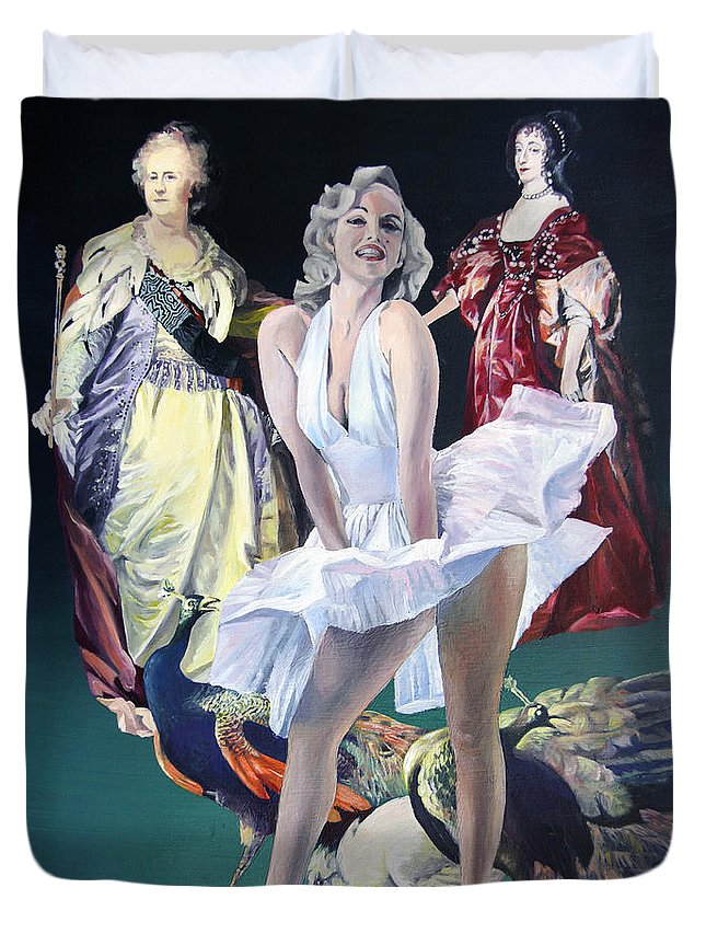 A New Series Of 	Ime Travel ... 2013 Duvet Cover featuring the painting Idols And Fans... by Taidakov Nikolai