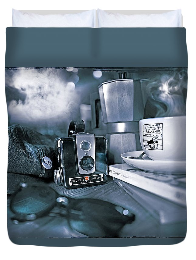 Beat Duvet Cover featuring the photograph I'm Bored... by Mal Bray