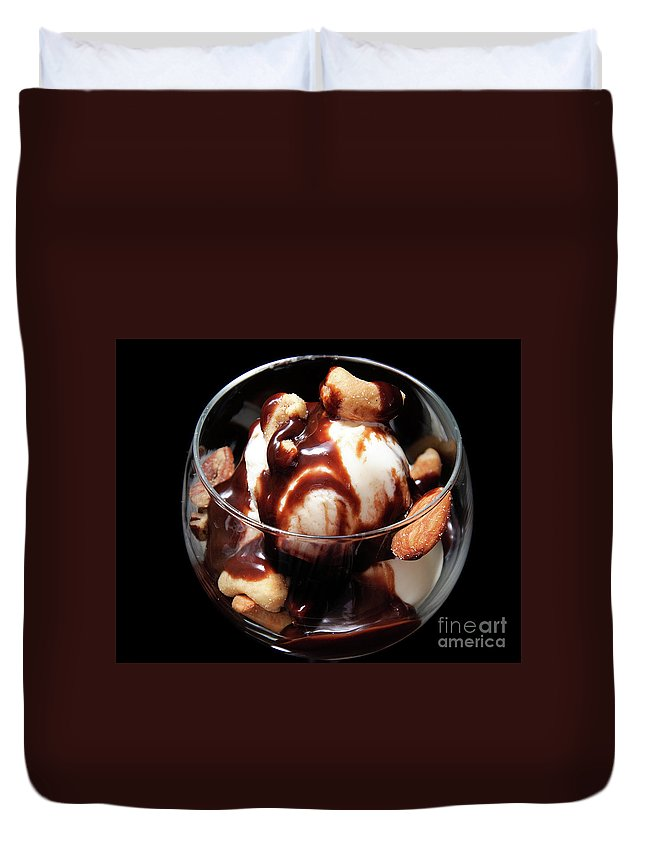 Chocolate Duvet Cover featuring the photograph I'm In Love With Chocolate 1 by Andee Design