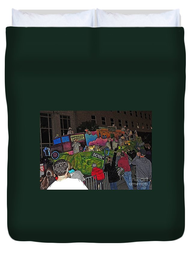 Digital Art Duvet Cover featuring the photograph Imperial Laundry by Marian Bell