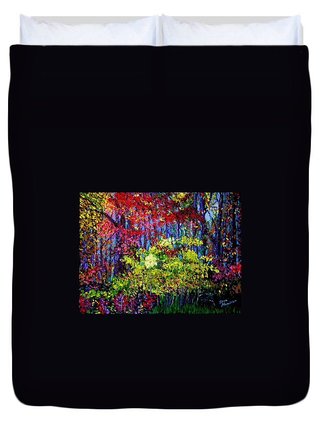 Impressionism Duvet Cover featuring the painting Impressionism 1 by Stan Hamilton