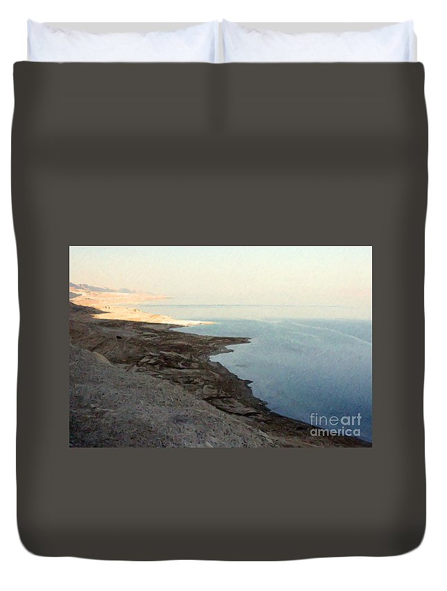 Jerusalem Duvet Cover featuring the photograph Impressionist Of The Dead Sea by Doc Braham