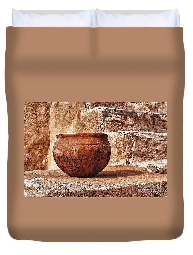 Hdr Duvet Cover featuring the photograph In Another Life by Sandra Bronstein