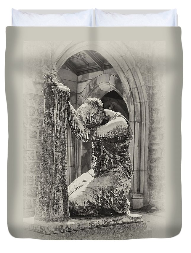 In Duvet Cover featuring the photograph In Grief by Bill Cannon