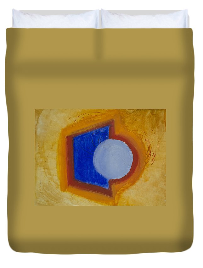 Circle Duvet Cover featuring the painting In Or Out by Daniel P Cronin