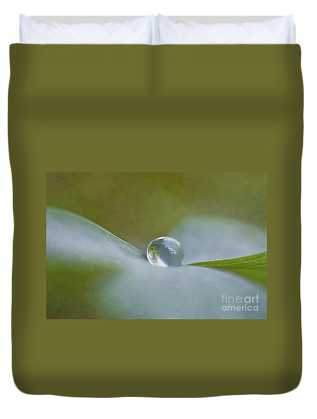 Drop Duvet Cover featuring the photograph In Perfect Balance by Maria Ismanah Schulze-Vorberg