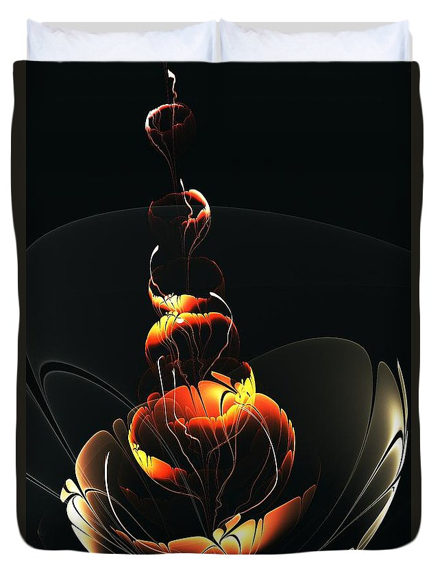 Malakhova Duvet Cover featuring the digital art In The Dark by Anastasiya Malakhova