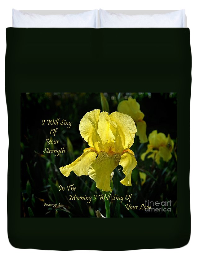 Nature Duvet Cover featuring the photograph In The Morning by Nava Thompson