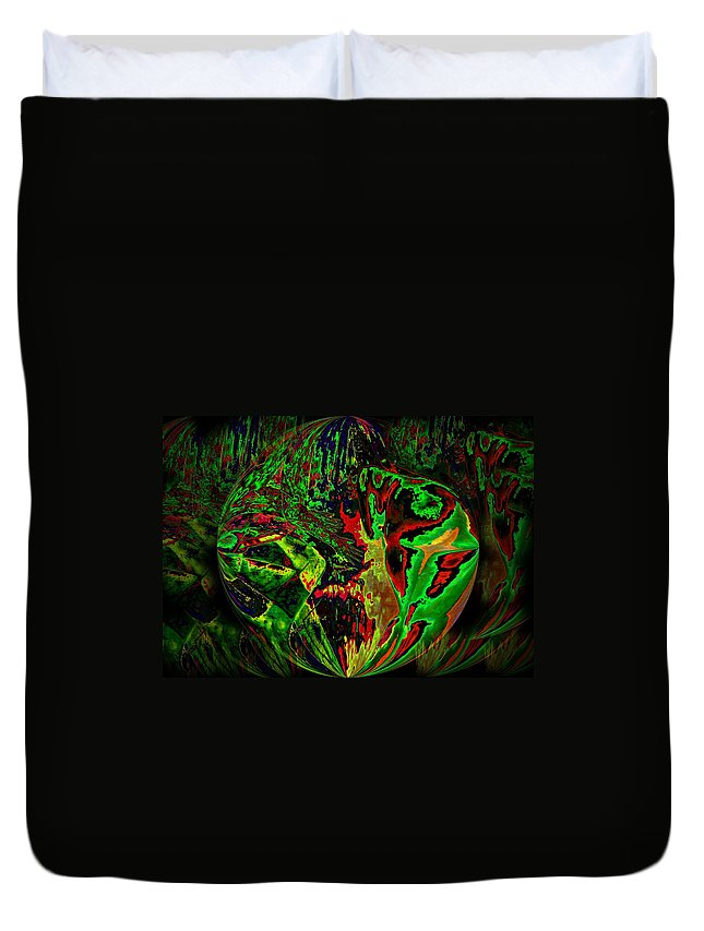 Genio Duvet Cover featuring the mixed media In The Rock 'n' Roll Jungle by Genio GgXpress