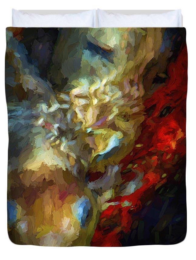 Fish Duvet Cover featuring the digital art In The Swim by Ken Frischkorn
