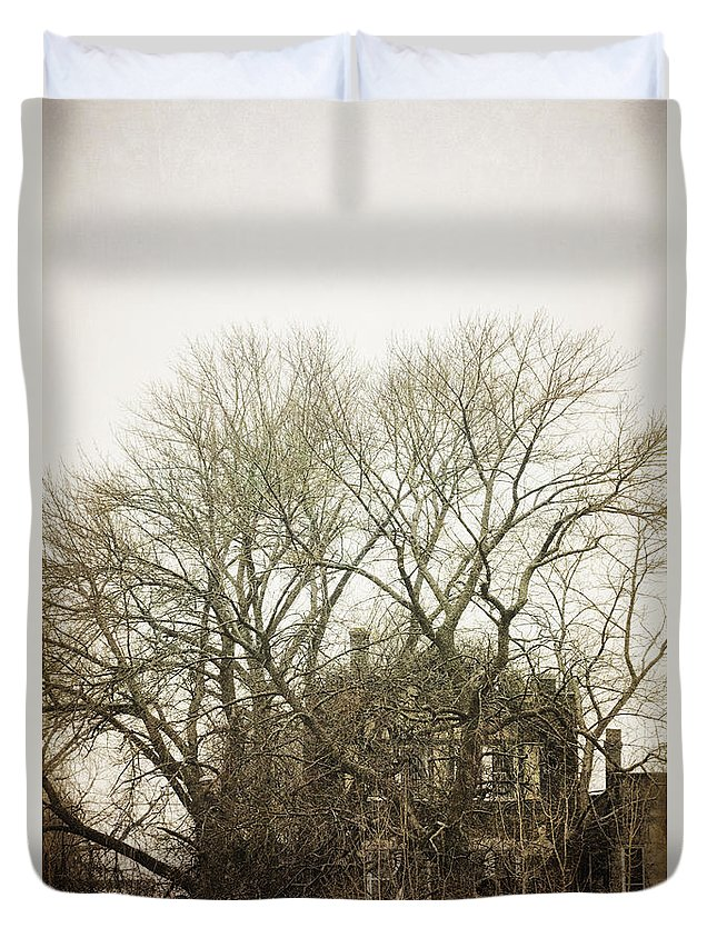 Abandoned Duvet Cover featuring the photograph In The Winter by Margie Hurwich