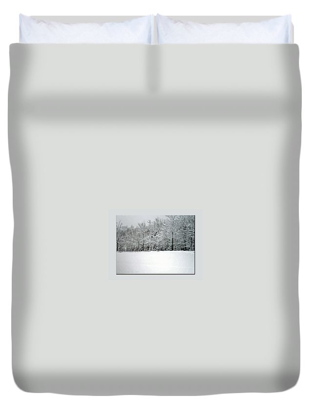 Winter Duvet Cover featuring the photograph In Winter's Light by Marie Jamieson