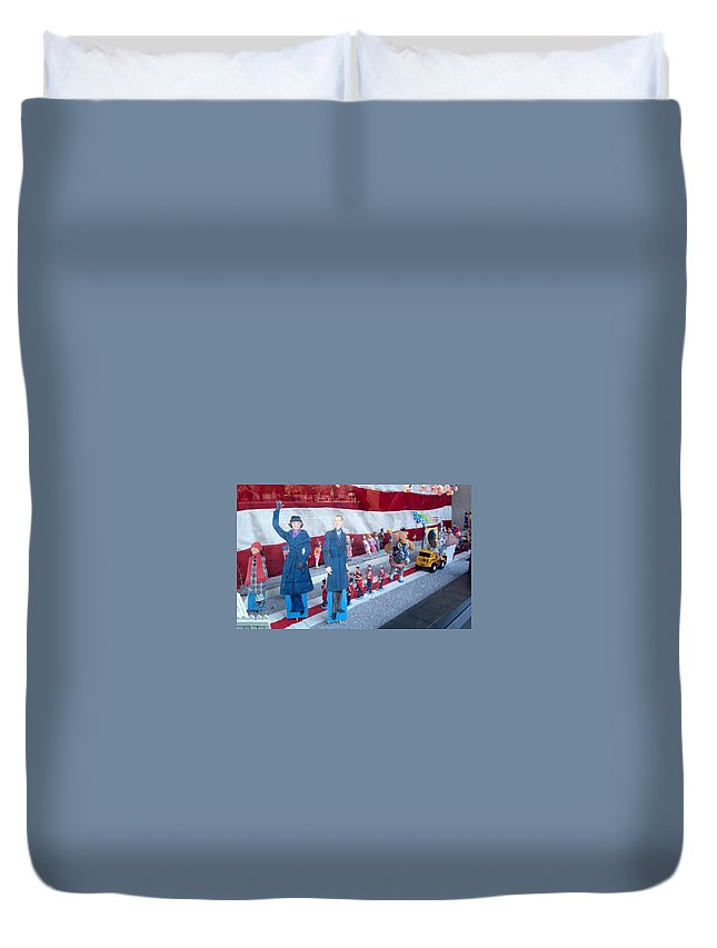 Inauguration Duvet Cover featuring the photograph Inauguration Parade 2013 by Lois Ivancin Tavaf