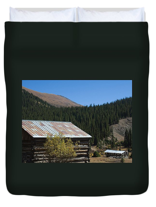 Ghost Town Duvet Cover featuring the photograph Independence Colorado by Lee Roth