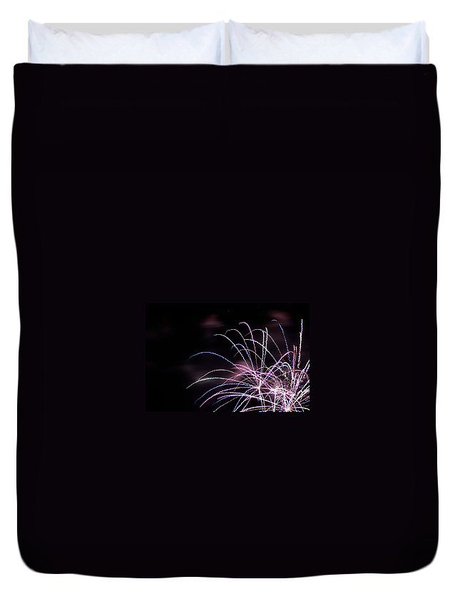 Fireworks Duvet Cover featuring the photograph Independence Day by Kathleen Odenthal