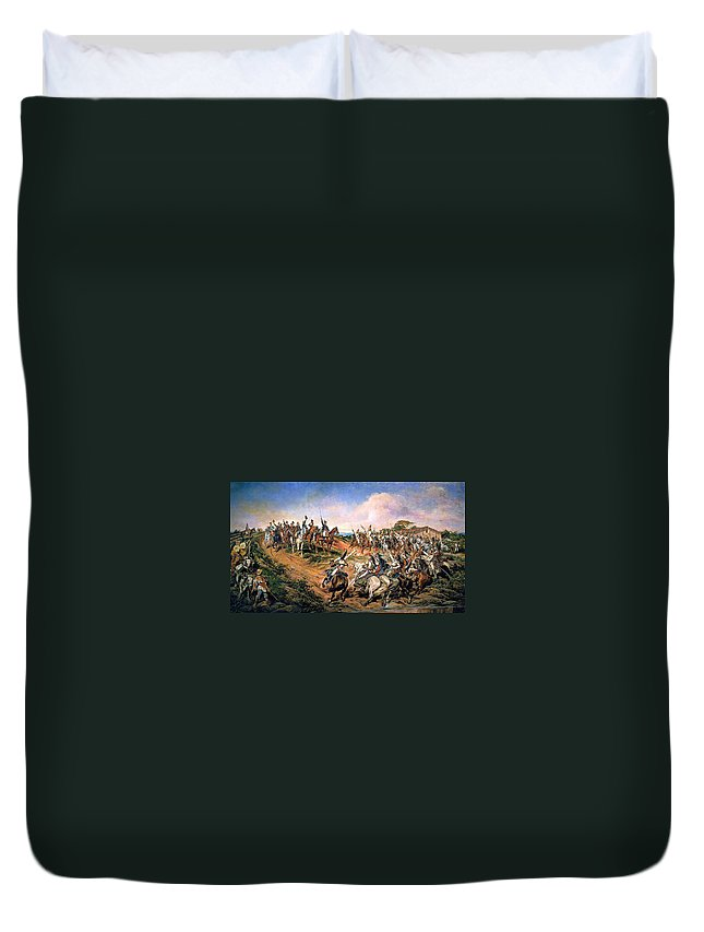 Pedro Americo Duvet Cover featuring the digital art Independence Of Brazil by Pedro Americo