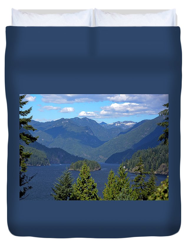 Indian Arm Duvet Cover featuring the photograph Indian Arm by Doug Matthews