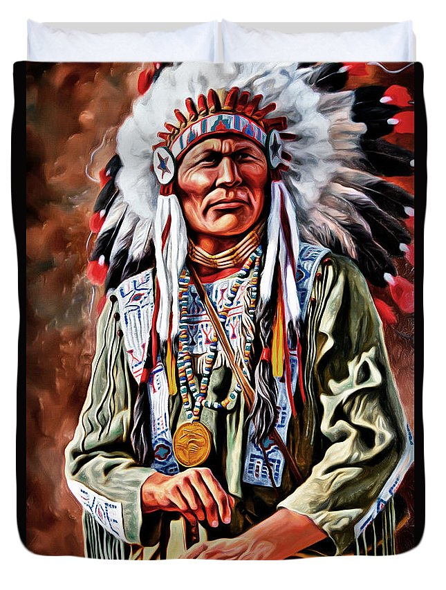 Indian Chief Duvet Cover featuring the photograph Indian Chief by Carlos Diaz
