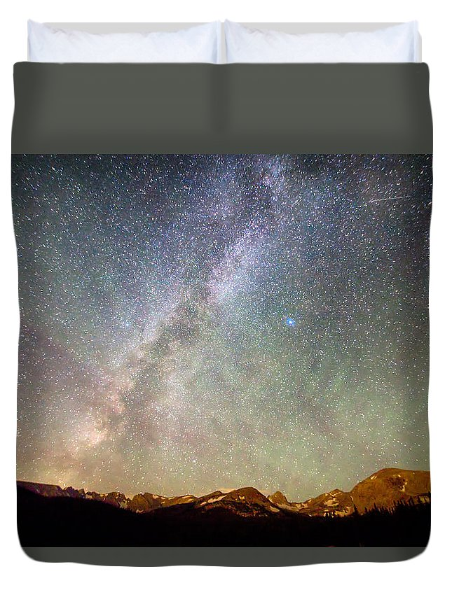 Milky Way Duvet Cover featuring the photograph Indian Peaks Milky Way by James BO Insogna