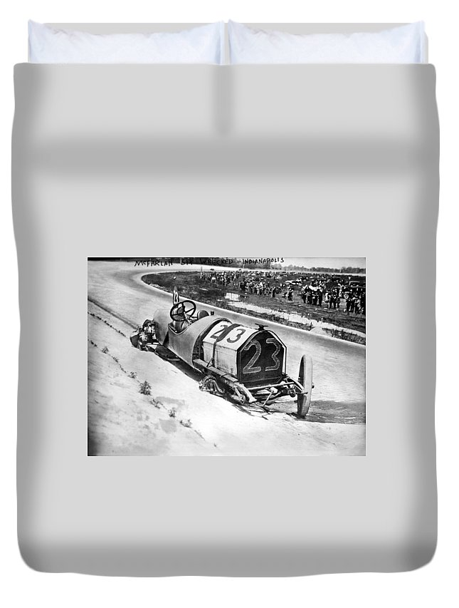 1912 Duvet Cover featuring the photograph Indianapolis 500, 1912 by Granger