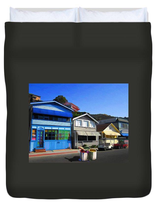 House Duvet Cover featuring the painting Individualism by Snake Jagger