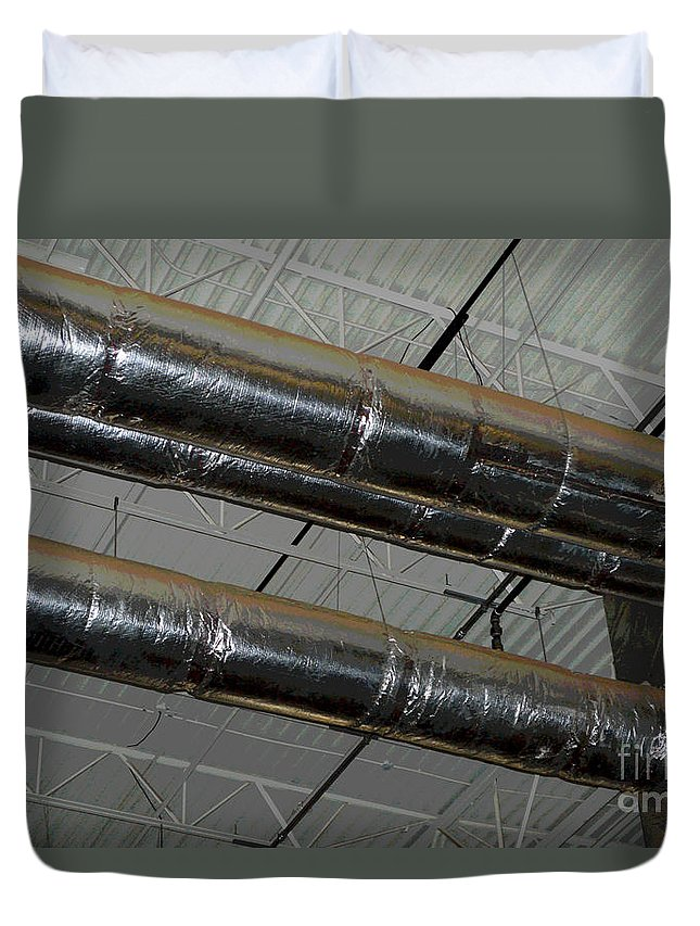 Industrial Duvet Cover featuring the photograph Industrial 1 by Alys Caviness-Gober