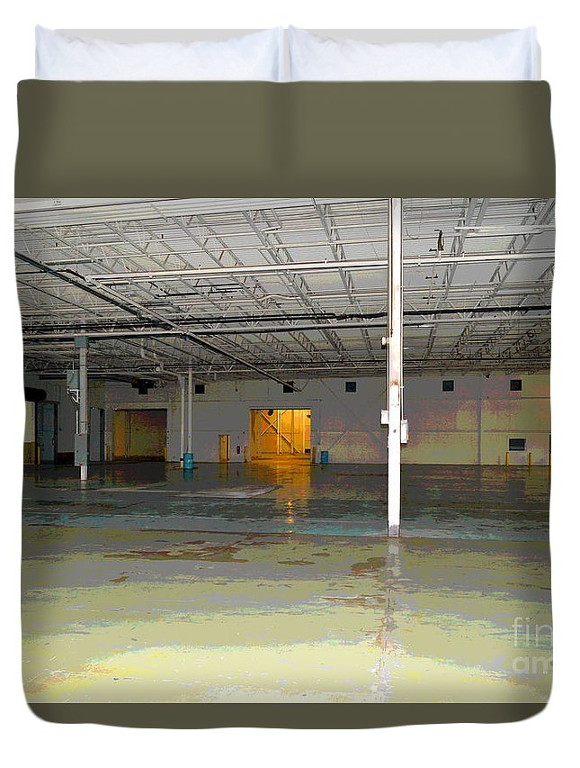 Industrial Duvet Cover featuring the photograph Industrial 4 by Alys Caviness-Gober