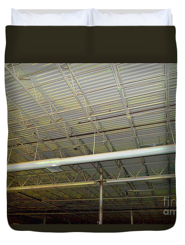 Industrial Duvet Cover featuring the photograph Industrial 5 by Alys Caviness-Gober