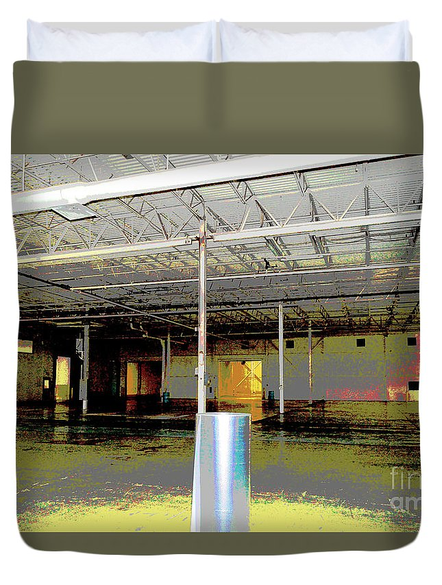 Industrial Duvet Cover featuring the photograph Industrial 6 by Alys Caviness-Gober