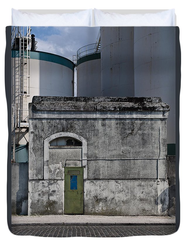 Industrial Duvet Cover featuring the photograph Industrial Architecture by Lana Enderle