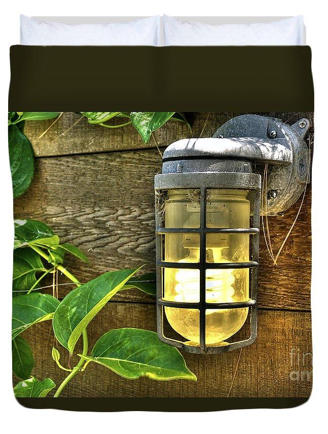 Venice Ca Duvet Cover featuring the photograph Industrial Outdoor Light by David Zanzinger